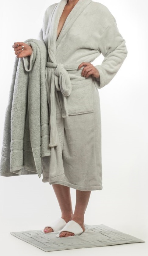 Crystal Fleece Gown - Grey