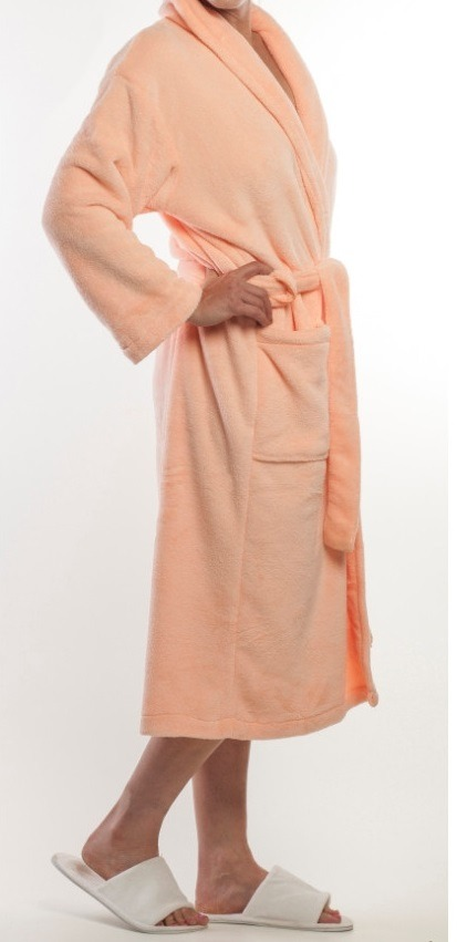 Crystal Fleece Gown - Peach