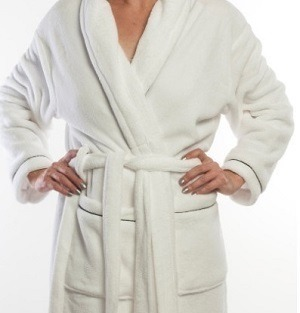 Gown Crystal Fleece White