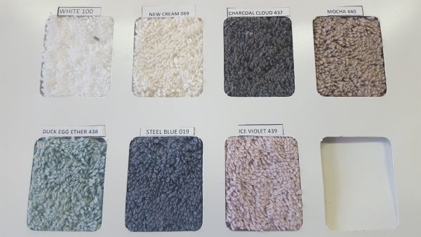 Nortex Indulgence Towel colour chart