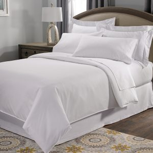 300 Threadcount 100% Cotton Percale (White)