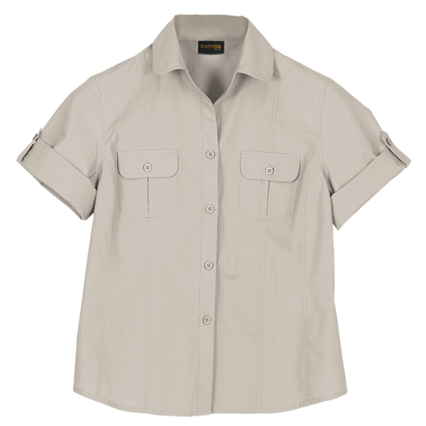 Ladies Outback Blouse Stone