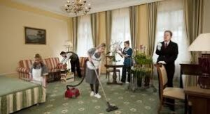 Cleaning ceilings walls furniture and fixtures